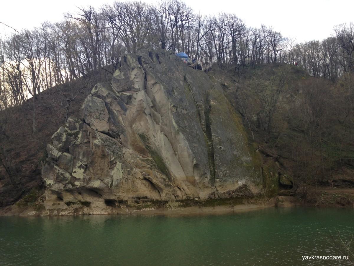 Скала Спасения на реке Псекупс