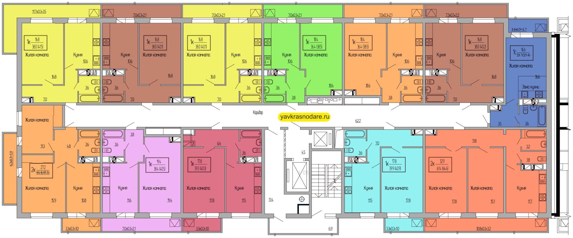 Атмосфера, 1 подъезд, 16-18 этажи