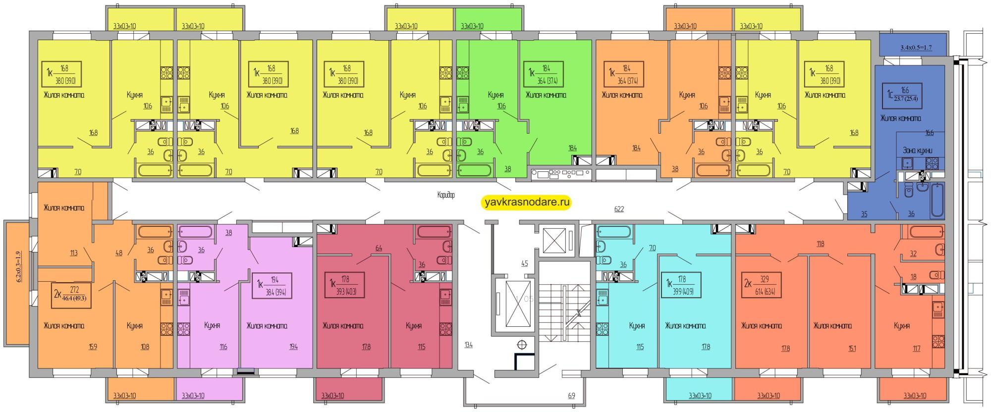 Атмосфера, 1 подъезд, 2-7 этажи