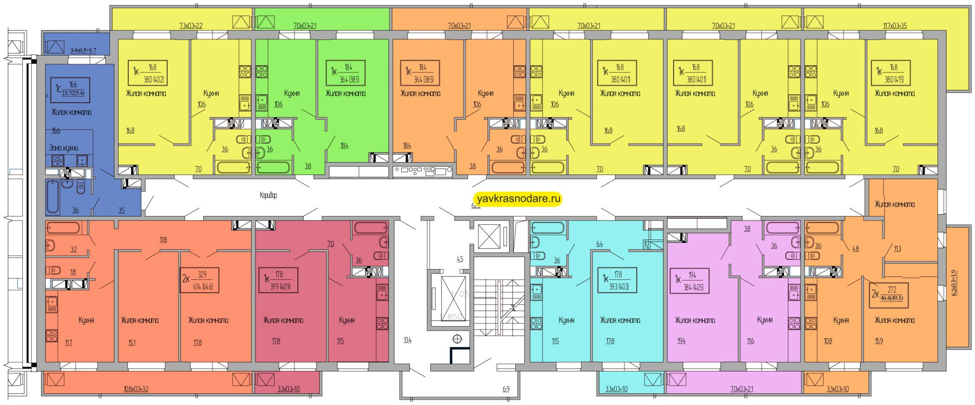 Атмосфера, 3 подъезд, 16-18 этажи