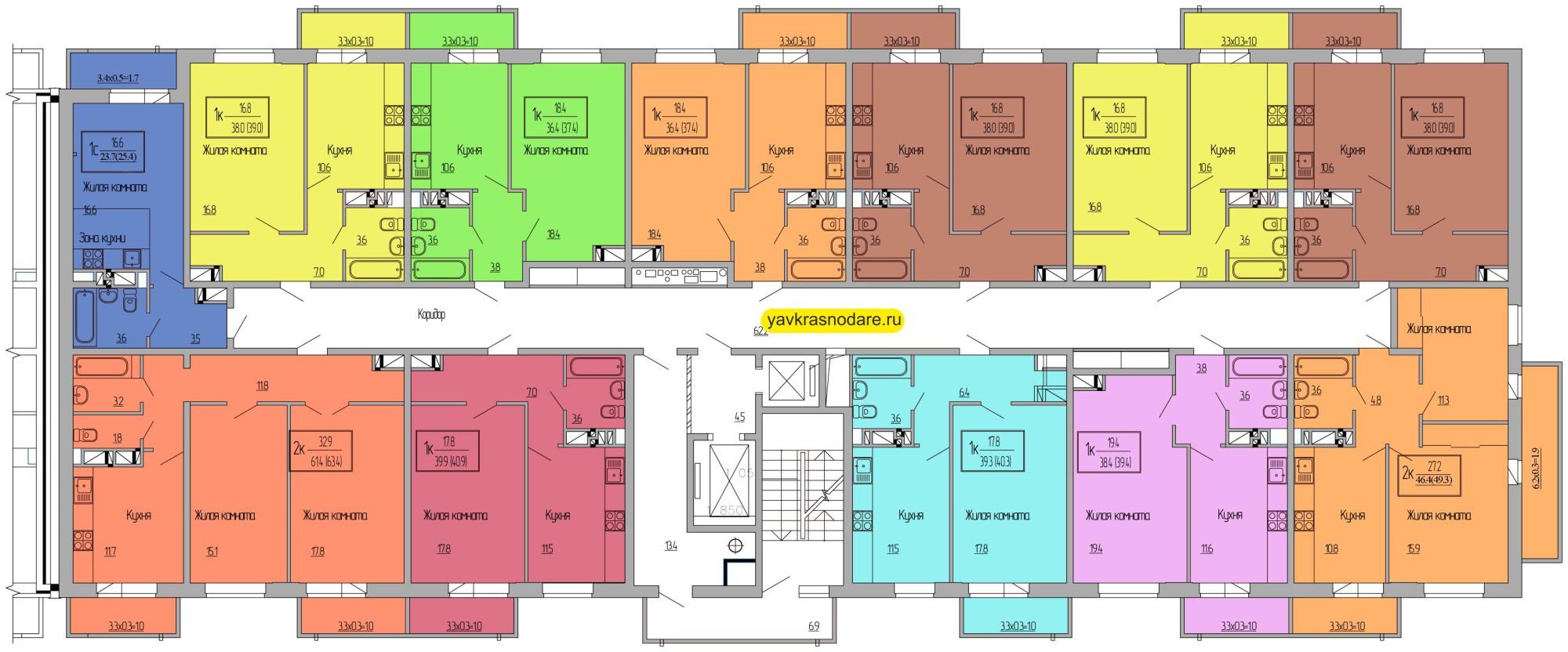 Атмосфера, 3 подъезд, 2-7 этажи