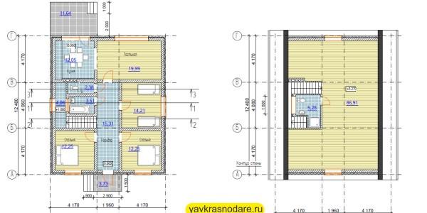 КП «Виктория» коттедж №5 план