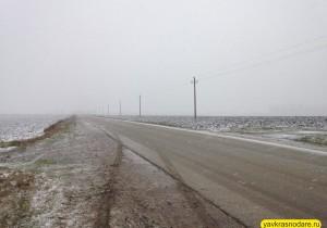Снег в Краснодаре. Начало
