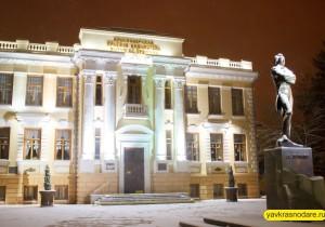 Снег в Краснодаре. Пушкин